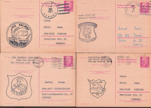 uss swordfisch Schertfisch, seawolf Seewolf, Halibut Heilbutt, Schiffe ship Gemany East postcard, nuclear, Atomkern