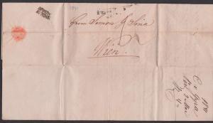 Ungarn Altbrief PEST 1841 nach Wien Faltbrief mit Inhalt