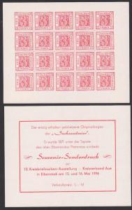 Sachsen Saxonie, Sonderdruck Souvernier Sachsendreier Eibenstocker Postamt, Faksimile 1976