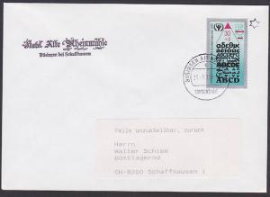 Germany East 3353 ABC-Marke Sondertarif Büsingen Hochrhein Ausschlussgebiet Alphabet, portogenau n. Schaffhausen