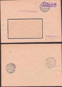 Schwarze Pumpe Grossbauvorhaben 20 Pfg. ZKD Nr. 15 (6012 Kreisaufdruck, ZKD-Brief, Aufbauleitung