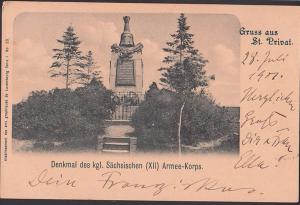 Saint-Privat-la-Montagne, Canct Privat, Denkmal des königlichen (XII) Armee-Korps 1907 Restaurant-St. Gardeturm