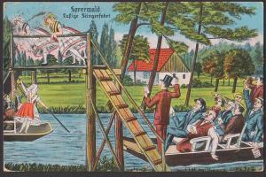 Spreewald lustige Sängerfahrt, SoSt. BURG 1926, Kahnfahrt Spaßkarte