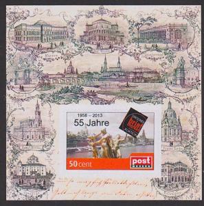 Dresden Semperoper Oper Musik Block, ** Privatpost, historische Ansichten, katholische Hofkirche, Synagoge, Belvedere
