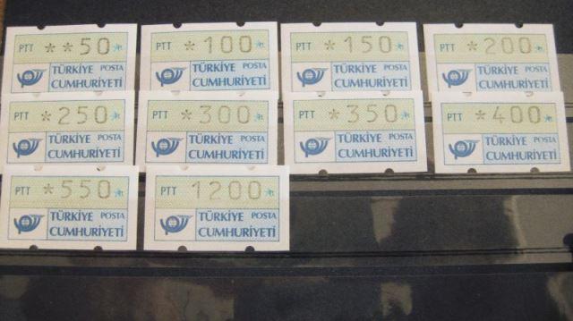 ATM Türkei Klüssendorf-ATM Türkei 1987 ** 1.1S2 vom 15.2.1989
