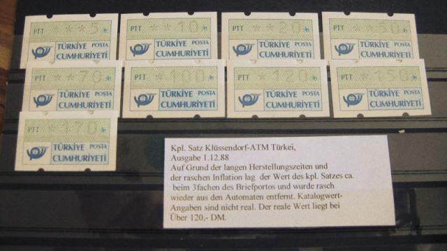 ATM Türkei Klüssendorf Ausgabe 15.2.1989,  1.1 S1 **