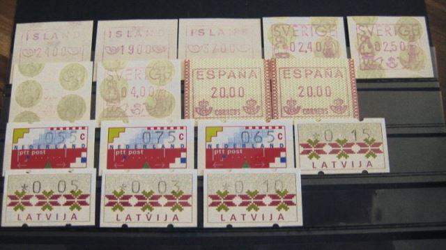 ATM Island, Schweden, Spanien, Niederlande, Lettland ** (T11)