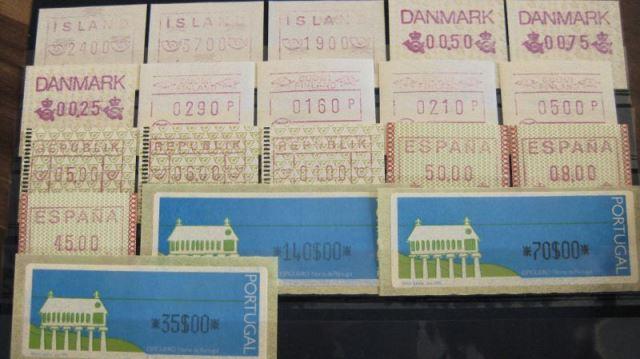 ATM Island, Dänemark, Finnland (Nordia 1993, Österreich, Spanien, Portugal (T13)