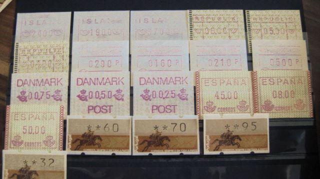 ATM Island, Österreich, Finnland (Nordia 1993) Dänemark, Spanien, Portugal ** (T14)