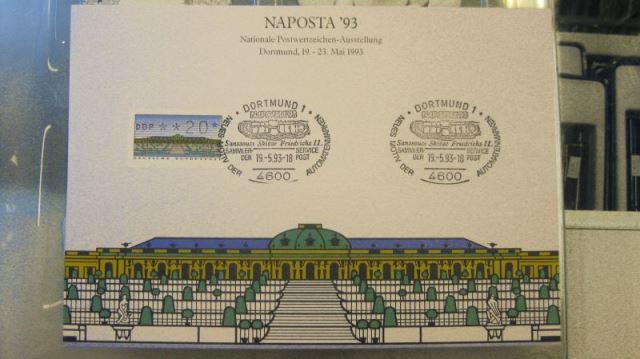 Stempelkarte NAPOSTA`93 Dortmund