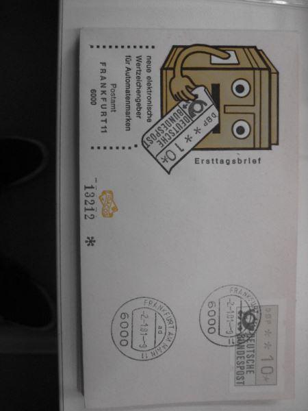 ATM Automatenmarken Bundesrepublik Deutschland 14 Werte vom 2. 1. 1981 auf FDC 10 Pfennig bis 280 Pfennig
