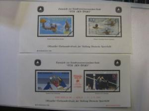 Vignettenpaar Für den Sport 1989 und 1990 der Sporthilfe PHILATELIA `89 Köln