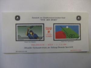 Vignette der Sporthilfe Für den Sport 1989 / PHILATELIA KÖLN `89