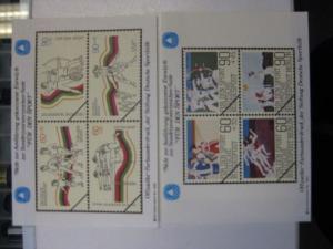 Vignettenpaar der Sporthilfe Für den Sport 1982 0