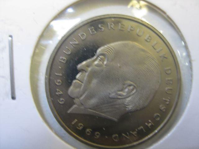 2 Dm Münze Konrad Adenauer 1977 F Pp Polierte Platte Spiegelglanz