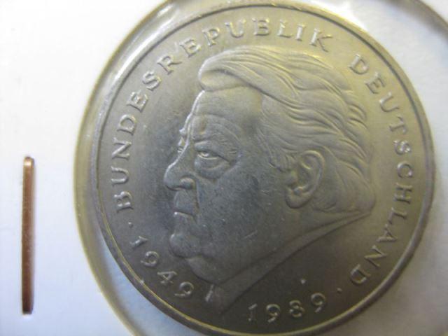2 Dm Münze Franz Josef Strauß 1990 F Stg Bf Oldthing Brd Dm