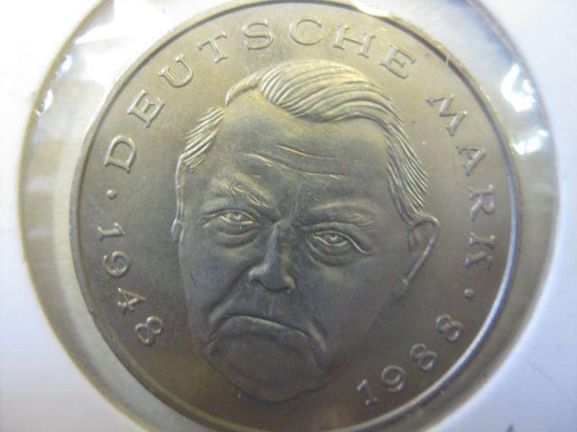 2 Dm Münze Ludwig Erhard 1989 F Stg Oldthing Brd Dm Gedenkmünzen