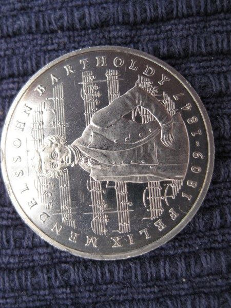 5 Dm Münze Mendelssohn Bartholdy 1984 Oldthing Brd Dm Gedenkmünzen
