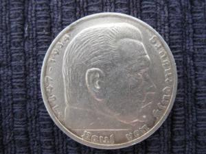 5 Reichsmark Silber 1935 F