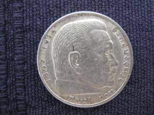 5 Reichsmark 1936 A,  Silber