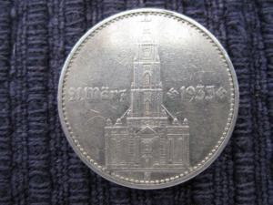 2 Reichsmark Silber 1934 D