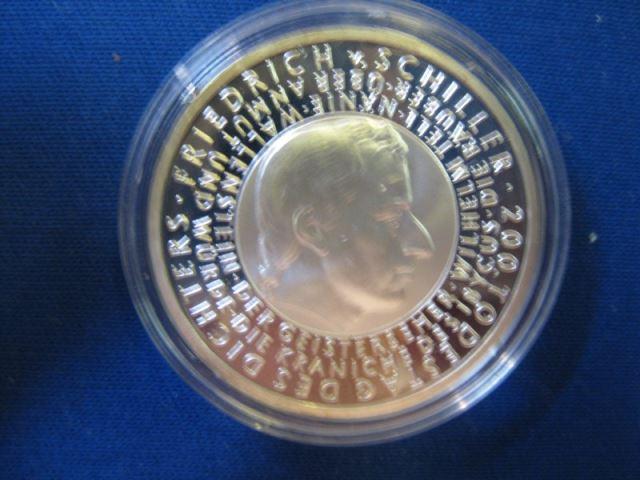 10 EURO Silbermünze 200. Todestag Friedrich von Schiller; Polierte Platte, Spiegelglanz