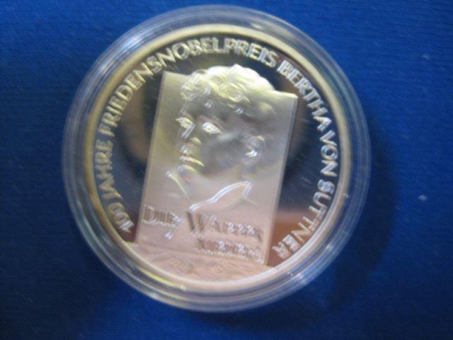 10 EURO Silbermünze Bertha von Suttner; Polierte Platte, Spiegelglanz