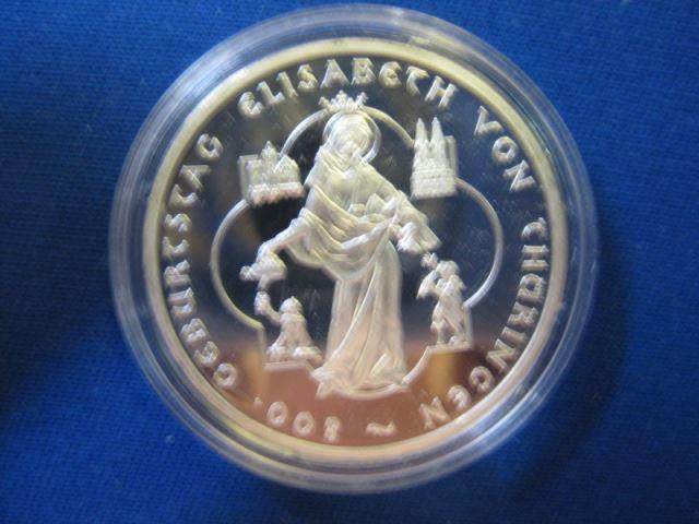 10 EURO Silbermünze 800 Jahre Heilige Elisabeth von Thüringen, Polierte Platte, Spiegelglanz