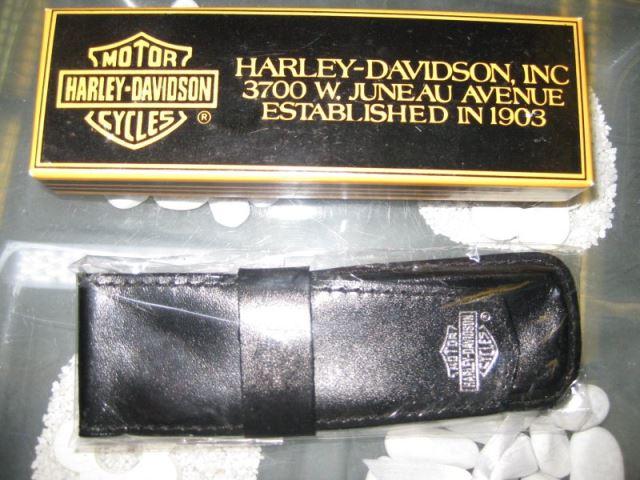Harley-Davidson Ledermäppchen für 2 Schreibgeräte