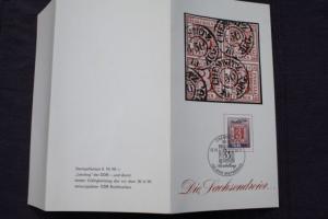 Philatelistisches Gedenkblatt 150 Jahre Briefmarken Chemnitz 1990