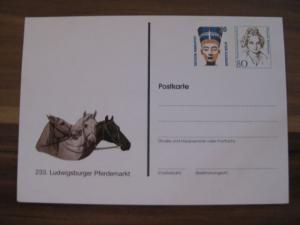 Ganzsache Ludwigsburger Pferdemarkt