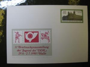 DDR Ganzsache PP21 mit Zudruck