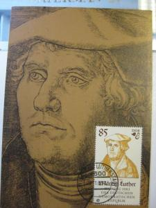 Amtliche Maximumkarte MK Martin Luther, Michel-Nr.  2757