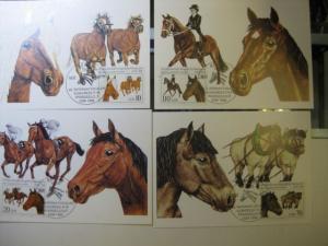 Maximumkarten Pferdezucht 1989