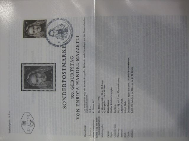 Amtliches Ersttagsblatt ETB der POST Österreich Enrica Handel-Mazzetti