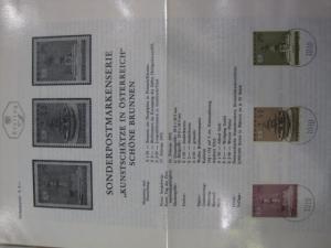 Amtliches Ersttagsblatt ETB der POST Österreich Kunstschätze
