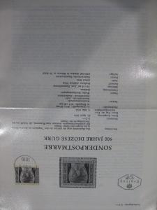 Amtliches Ersttagsblatt ETB der POST Österreich Diözese Gurk