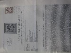 Amtliches Ersttagsblatt ETB der POST Österreich Spätgotik in Salzburg