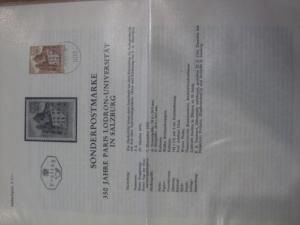Amtliches Ersttagsblatt ETB der POST Österreich Paris Lodron-Universität