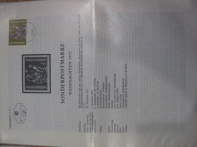 Amtliches Ersttagsblatt ETB der POST Österreich Weihnachten 1972 0