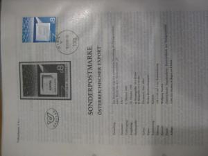 Amtliches Ankündigungsblatt / Erläuterungsblatt / Ersttagsblatt / ETB der POST: Österreichischer Export Hologramm