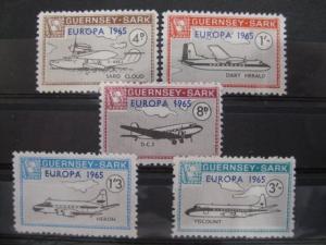 EUROPA-UNION-Mitläufer, CEPT-Mitläufer, Englische Insel-Lokalpost-Marken: Guernsey-Sark 1965