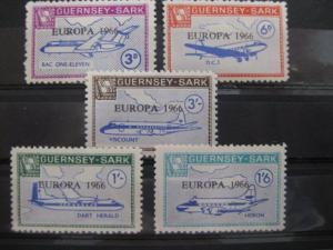 EUROPA-UNION-Mitläufer, CEPT-Mitläufer, Englische Insel-Lokalpost-Marken: Guernsey-Sark 1966