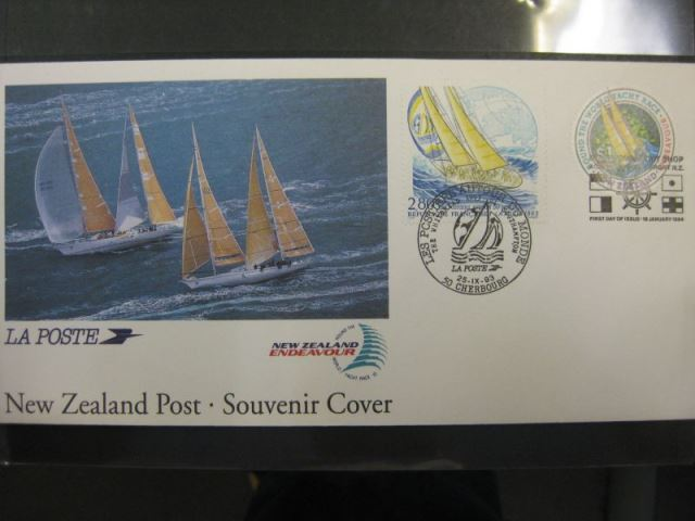 New Zealand Souvenir Cover  - Round The World Yacht Race