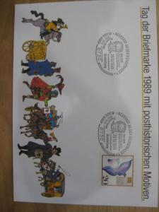 Stempelkarte, Erinnerungskarte Tag der Briefmarke 1989