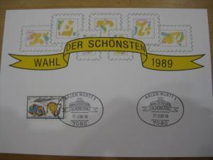 Stempelkarte, Erinnerungskarte  Wahl der Schönsten 1989
