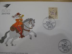Stempelkarte, Erinnerungskarte  500 Jahre Post