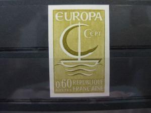 CEPT EUROPA-UNION, Frankreich 1966, Farbprobe, ungezähnt