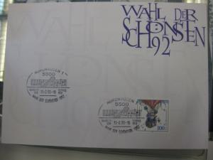 Stempelkarte, Erinnerungskarte  Wahl der Schönsten 1992