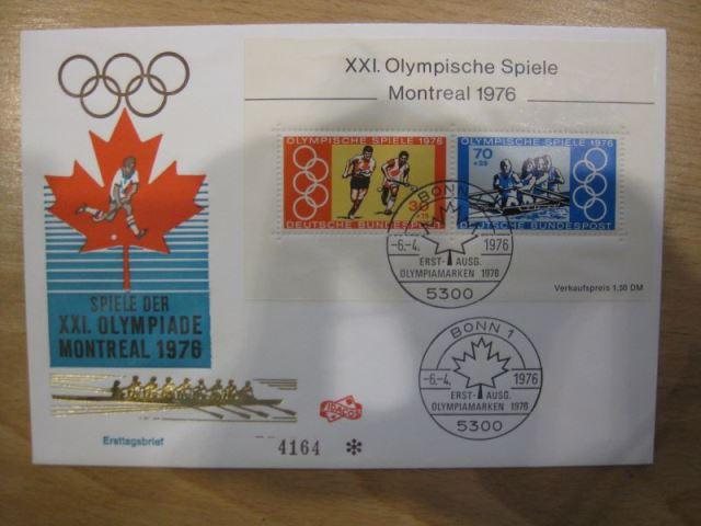 BRD Block 12 Olympische Spiele 1976 auf FDC